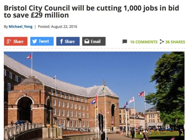 Job cuts bristol post